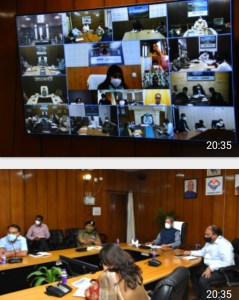 मुख्यमंत्री ने सचिवालय में वीडियो कांफ्रेंसिग द्वारा कोविड-19 की समीक्षा की